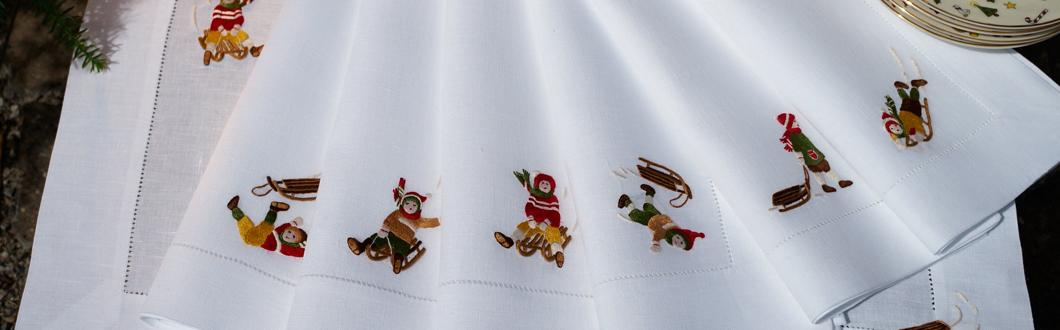 Slider Weihnachten - Eri textiles - Schlittschuhläufer